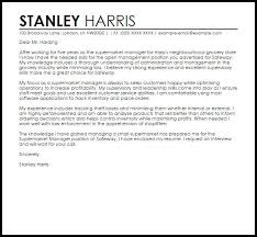 52 Grocery Store Cover Letter Allowed Supermarket Manager New Nor Sample With