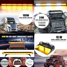 10 Types 6 - 88LED Light Bar Car Emergency Beacon Warn Tow Truck ... Tow Truck Strobe Lights Ebay Wolo Removable Roof Mount Led Light Bar Suv Hazard Hg2 Emergency Lighting Abudget Towing Dodge Ram Bars 30 56 W Amber Beacon Plow New 40 Solid 22 Round And Trailer 212 Side Clearance Amazoncom 80 Light Bar Emergency Beacon Warn Tow Truck Plow Amberwhite 47 88 Led Warn How To Troubleshoot A Towvehicles Electrical Circuits For Authority Vehicle 188876238