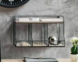 wandregal organizer büro regal hängeregal metall schwarz