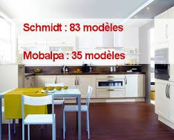 mod鑞es cuisines schmidt cuisines schmidt contre mobalpa modèles