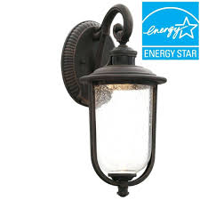 dusk to outdoor wall light mounted lighting rust led motion