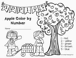 Free Printable Letter A Coloring Worksheet For Kindergarten Apple
