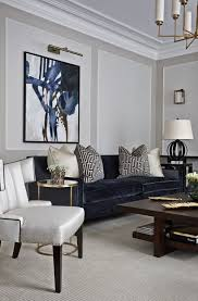 A Classic White And Navy Living Room Marlborough Mansions