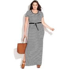 michael kors michael size shortsleeve striped maxi dress in