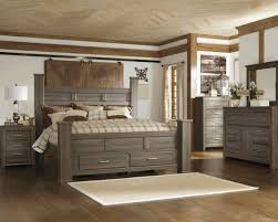 Juararo Poster Storage Bedroom Set In Dark Brown