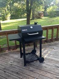 Nexgrill Cart Style Charcoal Grill in Black with Side Shelf and