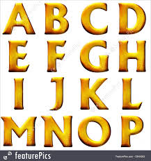 Letters And Numbers Set 3D Letters Stock Illustration I