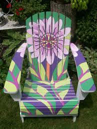 Custom Painted Margaritaville Adirondack Chairs by Image Detail For Adirondack Chair Adorned With Art Deco Motif