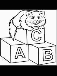 Cats Cat34 Animals Coloring Pages