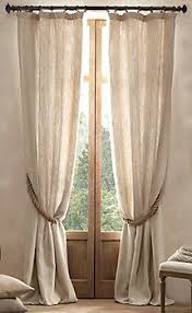 Restoration Hardware Curtain Rod Rings by Linen Curtains 19 For Two At Ikea Tieback 59 Cents A