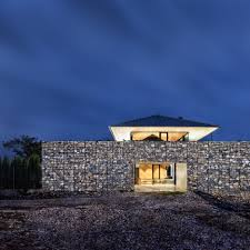 100 Gabion House Observation By IO Architects Features Viewing Deck
