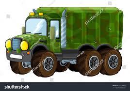 100 Funny Truck Pics Cartoon Happy Military Isolated Stock Illustration