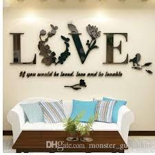 großhandel 3d blatt liebe wandaufkleber schriftzug kunst zitat aufkleber für wohnzimmer schlafzimmer acryl wandbild wandtattoo abnehmbare kunst