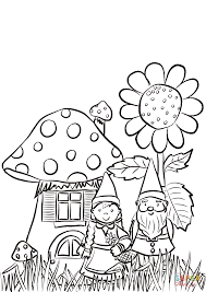 Click The Garden Gnomes Family Coloring Pages To View Printable Version Or Color It Online Compatible With IPad And Android Tablets