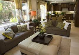 Brown Couch Decor Living Room by 50 Beautiful Living Rooms With Ottoman Coffee Tables