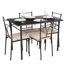 Amazon.com - Blusea IKayaa 5PCS Modern Metal Frame Dining ... Coast To Woodbridge 5pc Ding Room Set With Metal Frame Chairs Astonishing Slate Legs Rooms Ira 5 Piece Black Brown Wood Top Microfiber Seat Transitional Rectangular Table 4 Vintage Genuine Leather Padded Cooper Ii Industrial Counter Height Sage Green Suede Cushion Meridian 779greyc Giselle Series Contemporary Velvet Chair Of 2 Silver Dinette 732greyc Juno China Replica Design Gold Cafe Sets Fniture And Diy Agreeable Trent Used Unopened Black Metal Framed Ding Room Chairs For