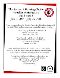 Section 8 Housing Choice Voucher Waiting List Open