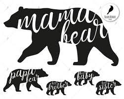 Mama Bear Svg Clipart Family