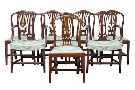 Set Of 6 + 2 19 Th Century Hepplewhite Design Mahogany Dining Chairs 4 Hepplewhite Style Mahogany Yellow Floral Upholstered Ding Chairs Style Ding Table And Chairs Pair George Iii Mahogany Armchairs Antique Set Of 8 English Georgian 12 19th Century Elegant Mellow Edwardian Design Antiques World 79 Off Wood Hogan Side Chair Eight Late 18th Of