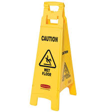 Caution Wet Floor Banana Sign by Rubbermaid Floor Sign With Caution Wet Floor Imprint 4 Sided In