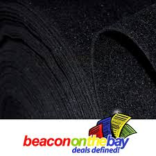 Black Auto Carpet by 1m Black Thick 2mm Subwoofer Speaker Sub Box Felt Fabric Auto Car