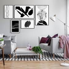 bilder poster set rahmen wand deko galerie abstrakt