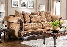 Peaceful Living Furniture Nicanor Gold Sofa