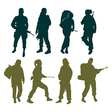 Female Soldier Cuttable Design Cut File Vector Clipart Digital Scrapbooking Download Available
