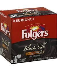 Folgers Black Silk Coffee Dark Roast K Cup Pods For Keurig
