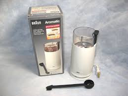 BRAUN AROMATIC Gourmet Edition Coffee Grinder KSM 4 Grinds Up To 12 Cups