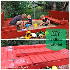This Sandbox Is Awesome With Benches That Turn Into The Cover ... Sandbox With Accordian Style Bench Seating By Tkering Tony How To Make A Sandpit Out Of Stuff Lying Around The Yard My 5 Diy Backyard Ideas For A Funtastic Summer Build 17 Plans Guide Patterns In Easy And Fun Way Tips Fence Dog Yard Fence Important Amiable March 2016 Lewannick Preschool Activity Bring Beach Your Backyard This Fun The Under Deck Playground Between3sisters Yards