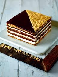 Hazelnut chocolate opera cake recipe from B I Y Bake It Yourself