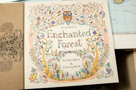 Enchanted Forest Colouring Book Tiana Feng