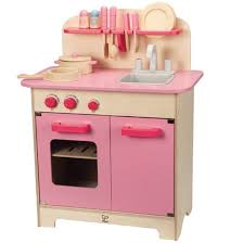 hape pink gourmet kitchen with starter set toy at mighty ape