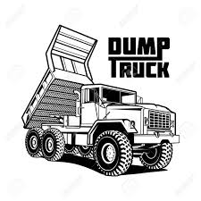 100 Dump Trucks Videos Tipper Truck Illustration Isolated On White Royalty Free