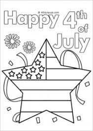 Flag 4th Of July Usa Coloring Pages Printable