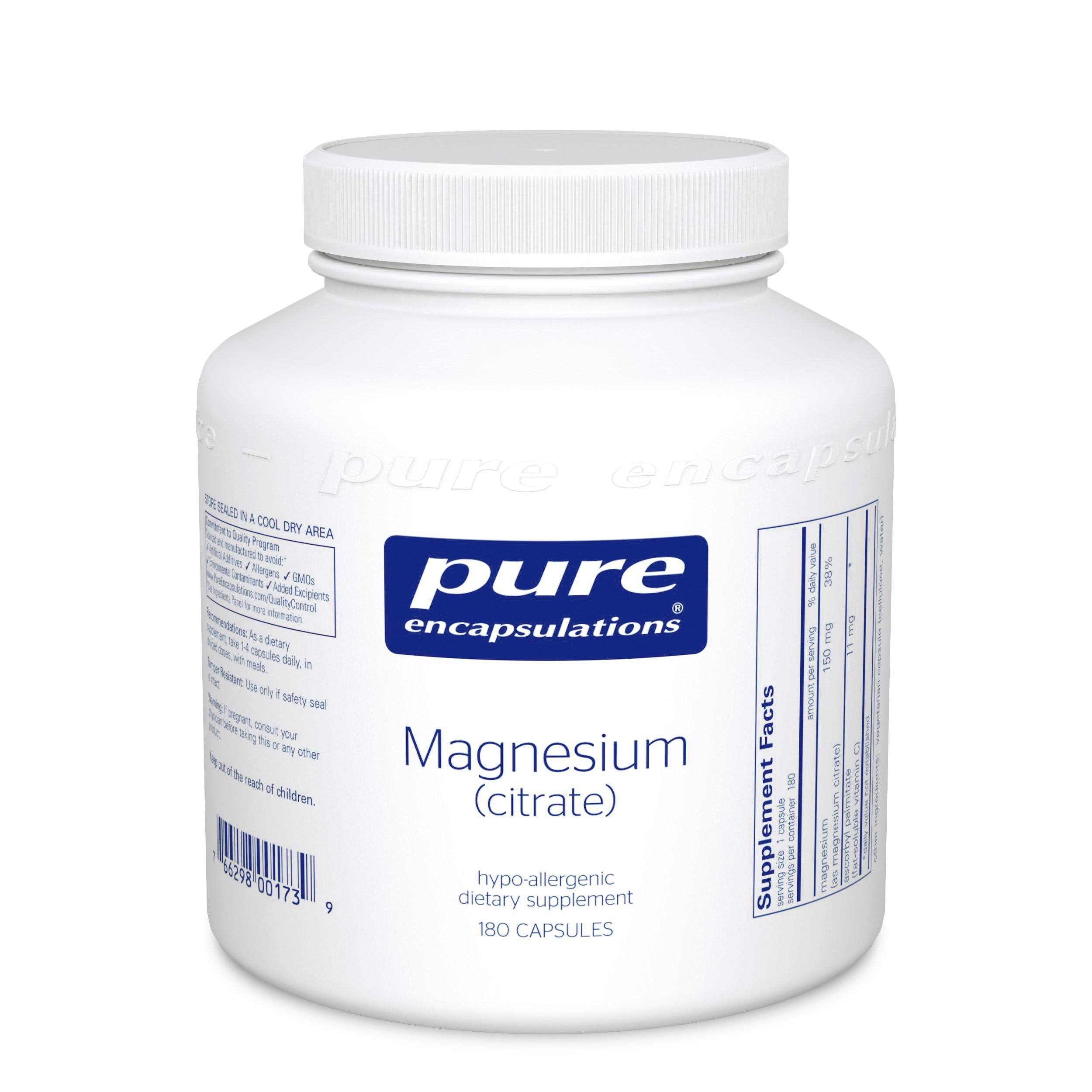 Pure Encapsulations Magnesium Citrate Dietary Supplement - 180 capsules