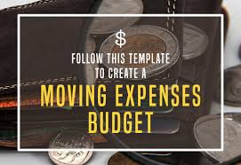 Follow This Template To Create A Moving Expenses Budget