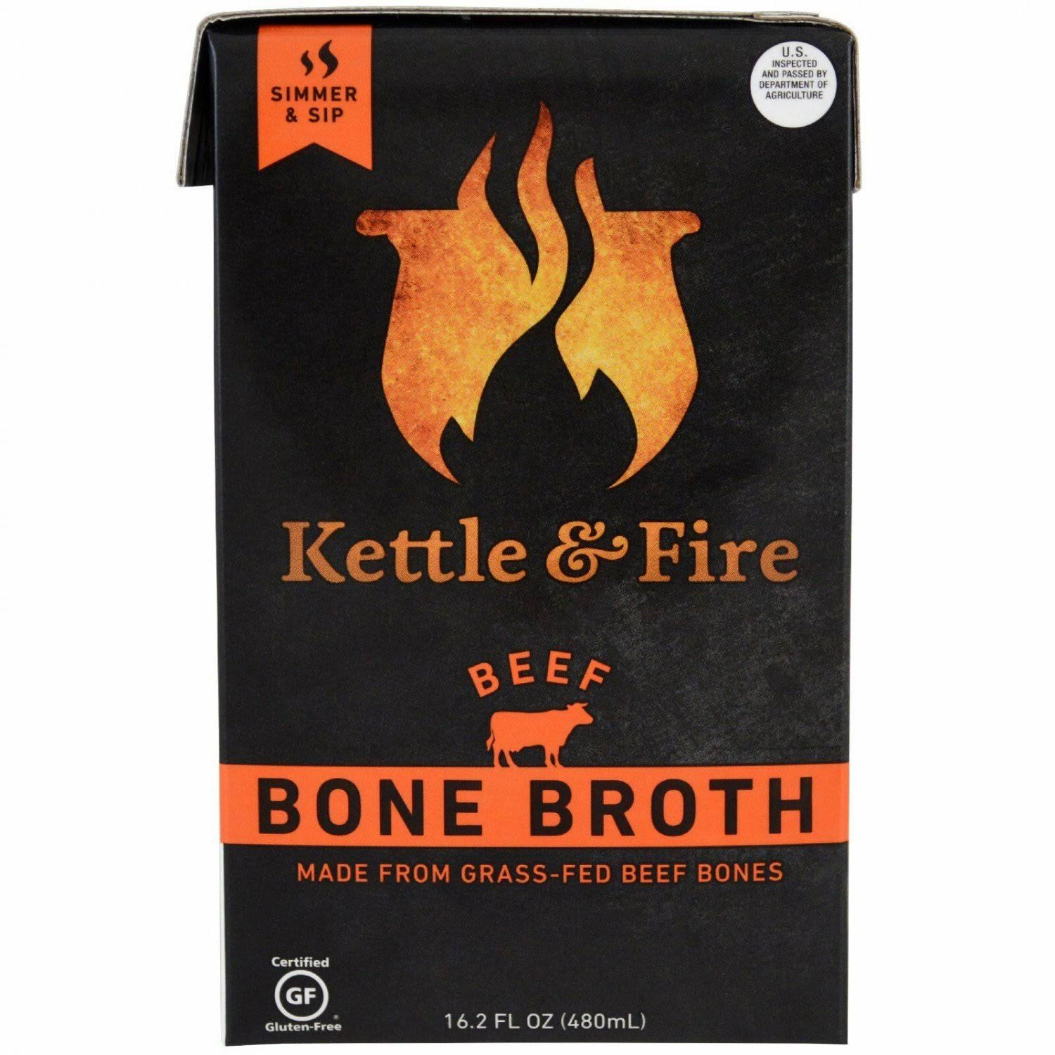 Bone Broth from Grass Fed Cows Slowly Simmered - Beef, 16.2oz