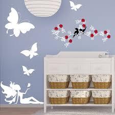 stikers chambre bebe stickers chambre bébé fée et papillons une décoration unique