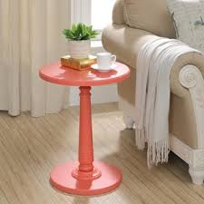 Coral Colored Decorative Items by Decorative Natural Rustic Transitional Coral Side Table Free