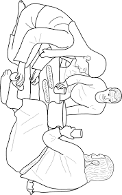 Mary Anointing Jesus Feet Coloring Page