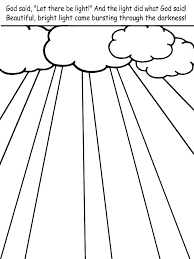 Free Creation Coloring Pages Light