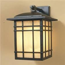 arts and crafts style outdoor lighting mission burnished bronze