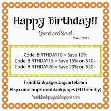 From Blank Pages...: Happy Birthday COUPONS! 50 Off Taya Bela Coupons Promo Discount Codes Printed A5 Coupon Codes Tracker Planner Inserts Minimalist Planner Inserts Printed White Cream Filofax Refill Austerry Etsy Coupon Not Working Govdeals Mansfield Ohio Shop Code Melyhandmade Etsy Store Do Not Purchase This Item Code Trackers Simple Collection Set Of 24 Item 512 Shop Rei December 2018 Dolly Creates Summer Sale New Patterns In The Upcycled Education November 2017 Discount 3 For 2 On Sale Digital Paper Pack How To Grow Your Shops Email List Autopilot August