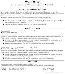 Teacher Sample Resumes Resume For Related Post Teachers In