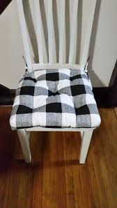 Black And White Buffalo Check Rocking Chair Cushions, Custom Size, Two  Piece Set