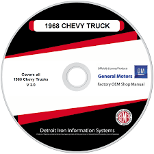 1968 Chevrolet Trucks Factory OEM Shop Manuals On CD | Detroit Iron