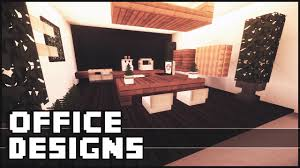 Minecraft Pe Living Room Designs by Minecraft Office Designs U0026 Ideas Youtube