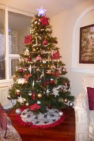 Slimline Christmas Trees Tesco by Fully Decorated Artificial Christmas Trees Christmas Lights